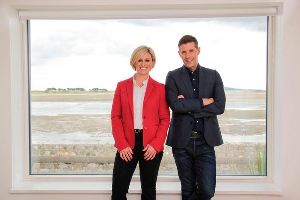 Lisa O'Brien with Dermot Bannon's on the popular TV series, 'Room to Improve'.