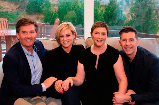 Lisa and Dermot with Daniel and Majella O'Donnell