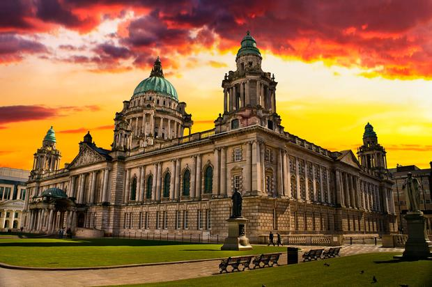 Bright future: City Hall in Belfast. The city has come a long way since the signing of the historic Anglo-Irish Agreement