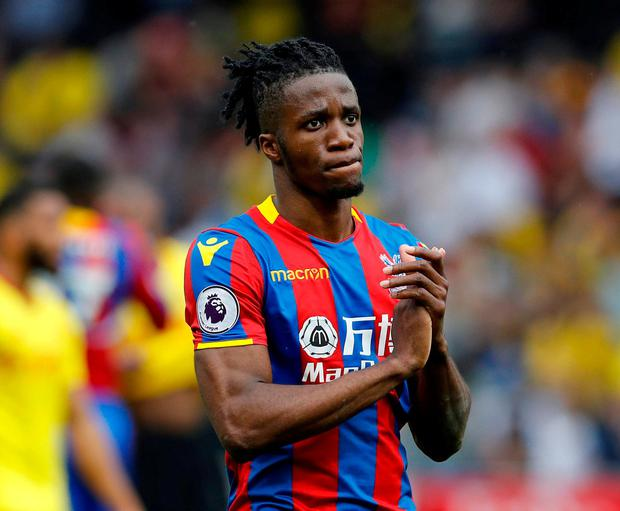 Crystal Palace's Wilfried Zaha. Photo: Darren Staples/Reuters