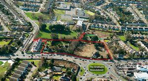 An aerial view of the 3.74-acre site on Church Road in Killiney, Co Dublin