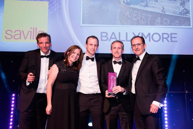 Ballymore Group senior executives Linda Mulryan, Robert Mulryan, and John Mulryan, group MD, at the Property Week Awards