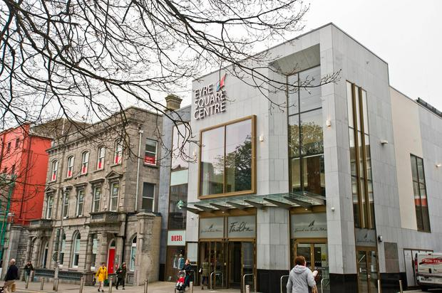 Unit 217 occupies a prominent position on the second floor of Eyre Square Shopping Centre (pictured). Photo: Declan Monaghan