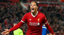Liverpool's Virgil van Dijk. Photo: Clive Brunskill/Getty Images