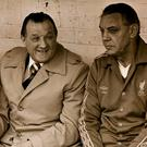Joe Fagan (right) during his time as assistant to Bob Paisley. Photo: PA