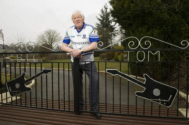 Big Tom at his home in Oram, Castleblayney, Co Monaghan. Photo: Philip Fitzpatrick. Inset below, Big Tom in his chart-topping heyday