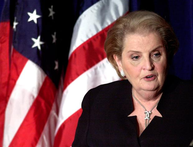 Madeleine Albright lost three of her four grandparents and numerous aunts and uncles in the Holocaust during World War II