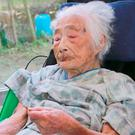 Nabi Tajima, the world's oldest person, has died at the age of 117. (Photo: Youtube)