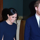 Meghan and Harry at a star-studded concert to celebrate her 92nd birthday at the Royal Albert Hall on April 21, 2018.