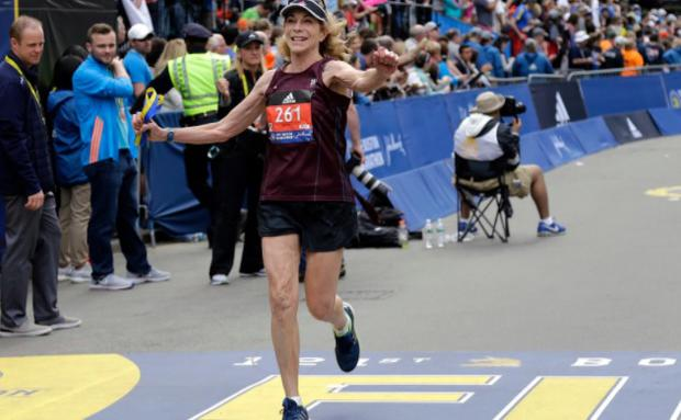Switzer is guest of honour at the London Marathon this weekend CREDIT: AP