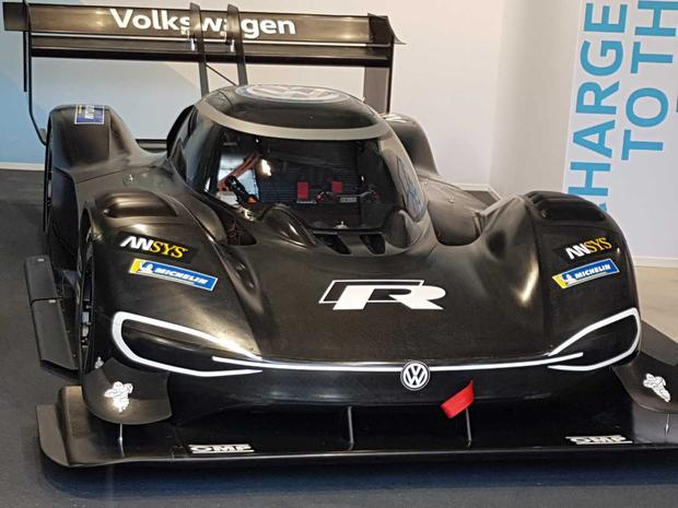 Volkswagen's first all-electric racing car, the I.D. R Pikes Peak. Photo: Eddie Cunningham
