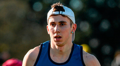 A few years ago Kevin Mulcaire was the 'next big thing' but the 20-year-old is back enjoying his running with Oklahoma State University after injury. Photo: Sportsfile