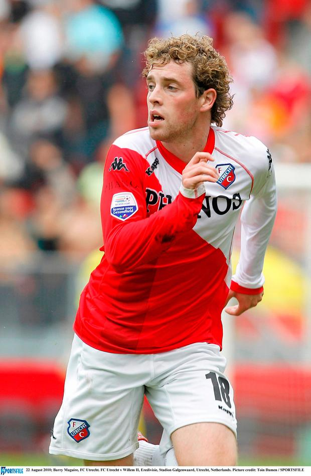 Barry Maguire for FC Utrecht. Photo: Sportsfile