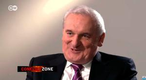 Bertie Ahern pictured during the TV interview