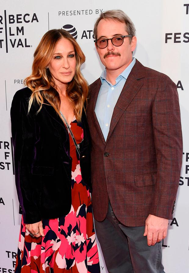 Sarah Jessica Parker and Matthew Broderick attend a screening of