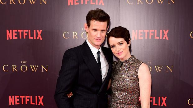 Matt Smith and Claire Foy at The Crown Season 2 Premiere in London (Ian West/PA)