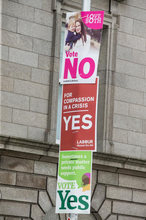 Posters for the upcoming abortion referendum (Photo: Kyran O'Brien)