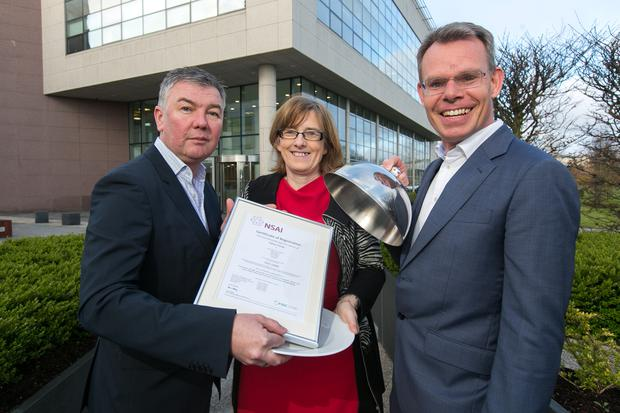 Pallas Foods is the first in Ireland and one of the first internationally to receive the NSAI FSSC 220000 scheme which is a specific certification scheme for businesses involved in the storage and transport of foods