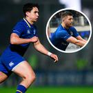 Joey Carbery and (inset) Ross Byrne