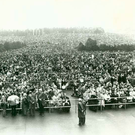 A massive crowd in Knock wait patiently for the arrival of Pope John Paul II in 1979
