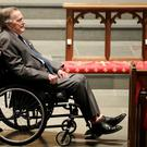 Former President George H.W. Bush, arrives at St. Martin's Episcopal Church for funeral services for former first lady Barbara Bush in Houston, Texas, U.S., April 21, 2018. David J. Phillip/Pool via Reuters/File Photo