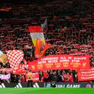 Liverpool fans ahead of Man City win