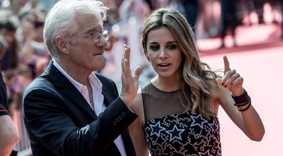SAN SEBASTIAN, SPAIN - SEPTEMBER 24: Richard Gere and Alejandra Silva attend 'Time Out Of Mind' premiere during 64th San Sebastian Film Festival on September 24, 2016 in San Sebastian, Spain. (Photo by Carlos Alvarez/Getty Images)