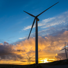 Mammoth 12MW wind turbines to be trialled. Stock Image