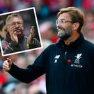 Jurgen Klopp and (inset) Alex Ferguson