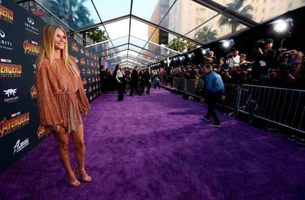 """Premiere of """"Avengers: Infinity Wars"""" - Arrivals - Los Angeles, California, U.S., 23/04/2018 - Actress Gwyneth Paltrow. REUTERS/Mario Anzuoni"""