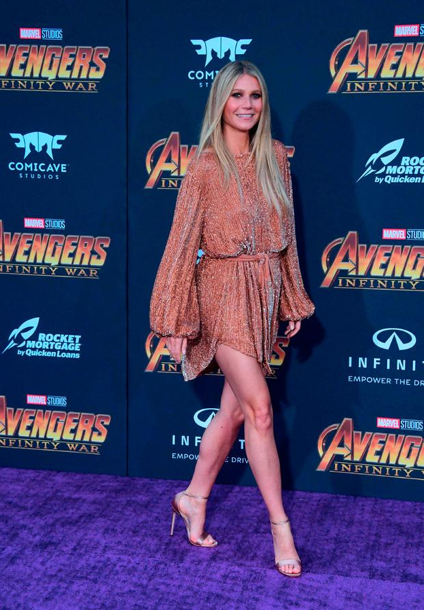 Actress Gwyneth Paltrow arrives for the World Premiere of the film 'Avengers: Infinity War' in Hollywood, California on April 23, 2018. / AFP PHOTO / FREDERIC J. BROWNFREDERIC J. BROWN/AFP/Getty Images