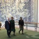President Michael D Higgins arrives at UN headquarters in New York