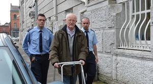Former priest John Calnan leaving Cork Court after being convicted on charges of sexual assault of a 6 year old girl while hearing her confession Pic Michael Mac Sweeney/Cork Courts