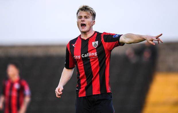 Longford Town goalscorer Daniel O'Reilly. Photo: Stephen McCarthy/Sportsfile