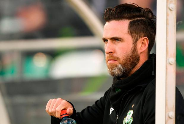 Under pressure: Shamrock Rovers boss Stephen Bradley. Photo: Harry Murphy/Sportsfile