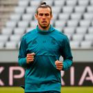 Gareth Bale pictured during Real Madrid training. Photo: REUTERS/Michael Dalder