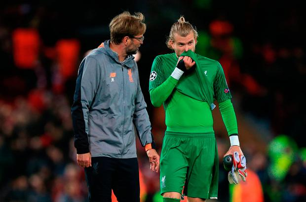 Liverpool boss Jurgen Klopp has backed Loris Karius despite some high profile mistakes. Photo: Peter Byrne/PA Wire