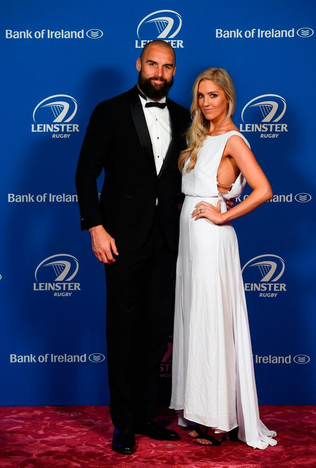 Scott and Penelope Fardy at the Leinster Awards ball at the InterContinental Dublin