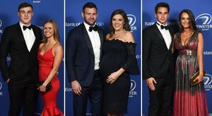 (L to R) Garry Ringrose and Ellen Beirne, Fergus and Rebecca McFadden, Joey Carbery and Robyn Flanagan