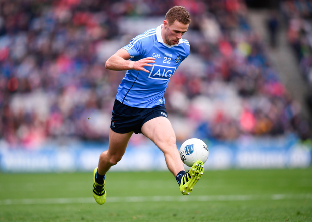 1 April 2018; Paul Mannion of Dublin during the Allianz Football League Division 1 Final match between Dublin and Galway at Croke Park in Dublin. Photo by Stephen McCarthy/Sportsfile