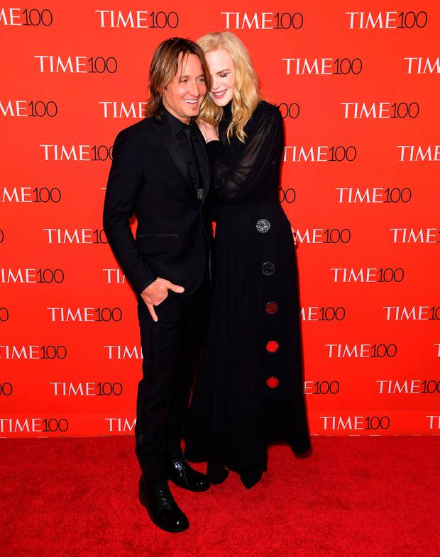 Keith Urban and Nicole Kidman attend the TIME 100 Gala celebrating its annual list of the 100 Most Influential People In The World at Frederick P. Rose Hall, Jazz at Lincoln Center on April 24, 2018 in New York City. / AFP PHOTO / ANGELA WEISSANGELA WEISS/AFP/Getty Images
