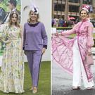 (L to R) Rosie Fortescue and Marietta Doran, Alex Butler, Evanne Ni Chuillin at Punchestown Racecourse