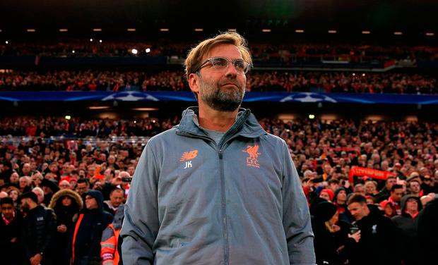 Liverpool manager Jurgen Klopp. Peter Byrne/PA Wire