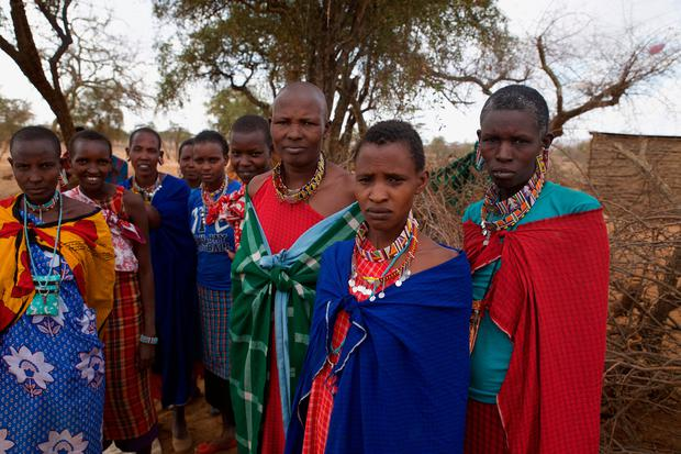 Supportive: The Maasai women of the community