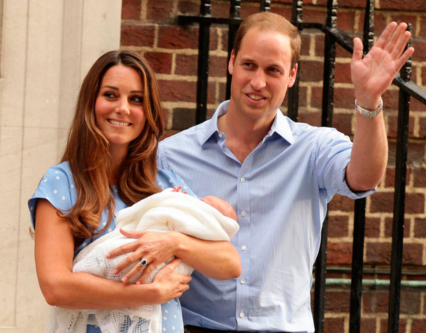 Kate with baby George. Photo: PA
