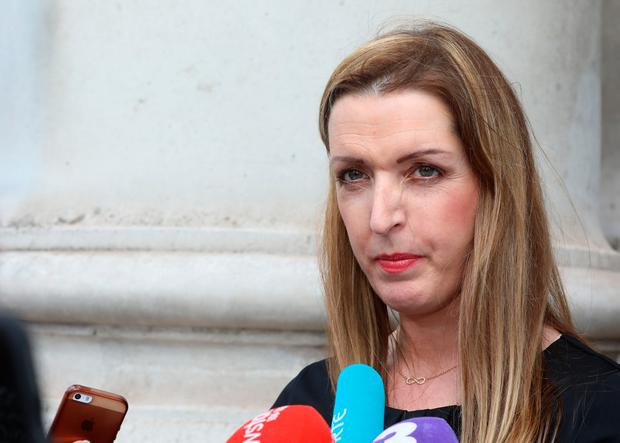 Vicky Phelan from Annacotty, Co. Limerick, pictured speaking to the media on leaving the Four Courts after the announcement of a settlement of her High Court action for damages. Photo: Collins Courts