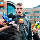Tom Evans speaks to the media outside Liverpool's Alder Hey Children's Hospital where Alfie Evans, the 23-month-old who has been at the centre of a life-support treatment dispute, is a patient. Photo: Peter Byrne/PA Wire