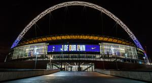 LONDON, ENGLAND - FEBRUARY 04: A general view outside London's Wembley Stadium (Photo by Miles Willis/Getty Images for Nike)