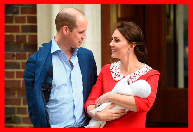 Britain's Kate Middleton and Prince William and their newborn son outside the Lindo Wing at St Mary's Hospital in Paddington, London. Photo: Kirsty O'Connor/PA Wire