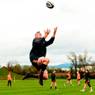 Robin Copeland catches a high ball in training. Photo: Diarmuid Greene/Sportsfile